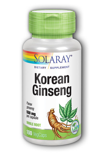 Korean Ginseng Root, 100ct 550mg