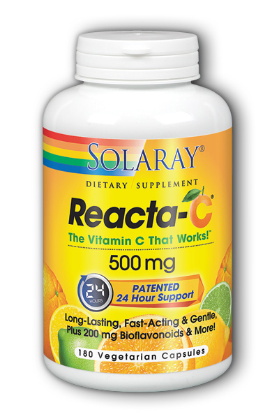 SOLARAY: Reacta-C 500mg with Bioflavonoids 180 Vcaps