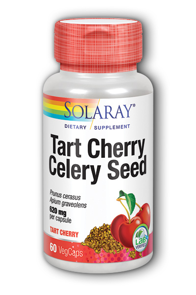 Solaray: Tart Cherry Fruit Extract & Celery Seed 60 Vcaps