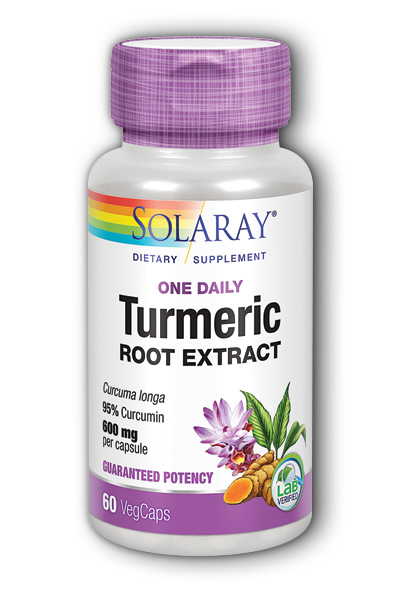 Solaray: Turmeric Root One Daily 60 ct Vcp