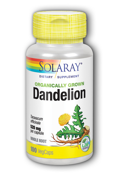 Organic Dandelion Root Dietary Supplements