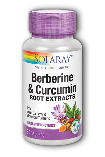 Solaray: Berberine & Curcumin (600 mg) 60 ct C-Vcp