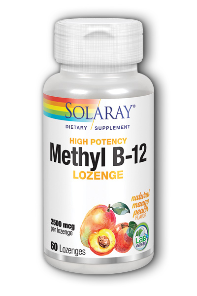 Methyl B-12 Lozenge Mango Peach, 60ct 2500mcg