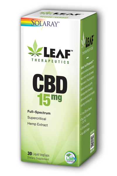 Solaray: Leaf Therapeutics CBD 15mg 30 ct