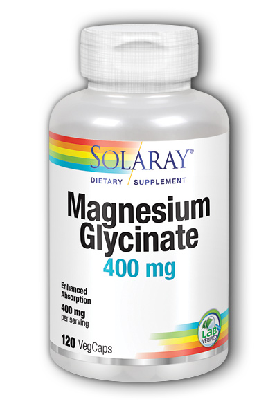 Solaray: Magnesium Glycinate 120 ct 400mg