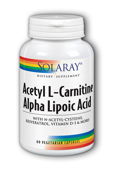 Solaray: Acetyl L-Carnitine And ALA 60ct