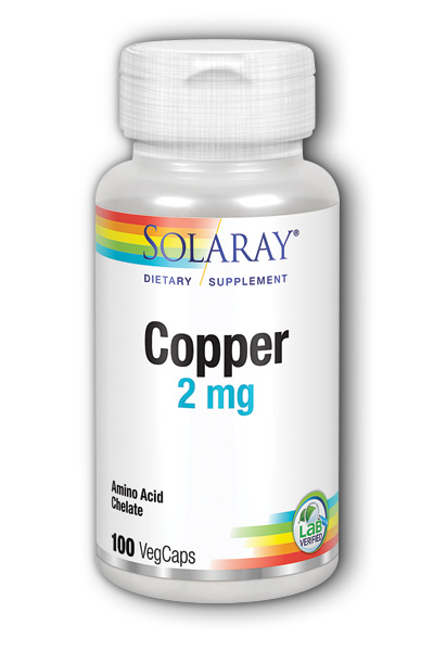 Solaray: Copper 100ct 2mg
