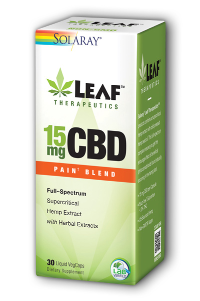Leaf Therapeutics CBD Pain Blend, 30 Liquid VegCaps