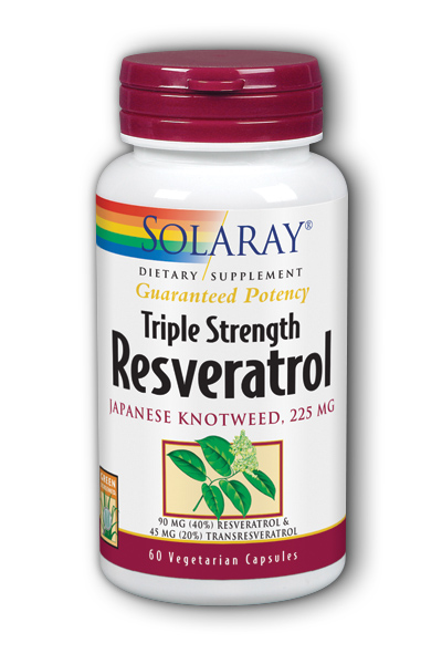 Solaray: Triple Strength Resveratrol 60 Vegetarian Capsules