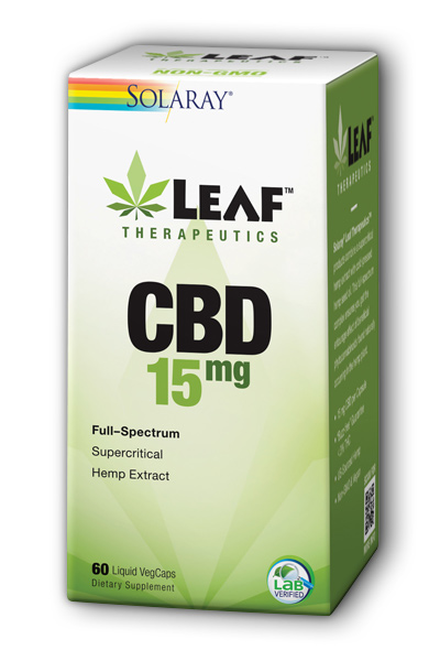 Leaf Therapeutics CBD 15mg, 60 Liquid VegCaps