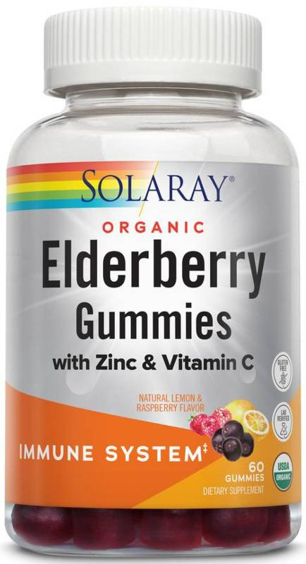 Organic Elderberry Gummies Dietary Supplements