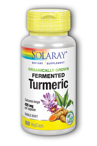 Solaray: Organically Grown Fermented Turmeric Root 100 ct Vcp
