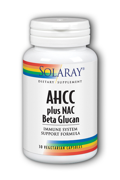 Solaray: AHCC Plus NAC And Beta Glucan 30 Capsules