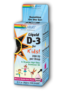 Solaray: D-3 For Kids 200IU Bubble Gum 0.5 fl oz liquid
