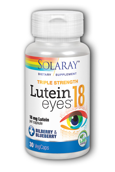 Solaray: Lutein Eyes -18 30ct 18mg