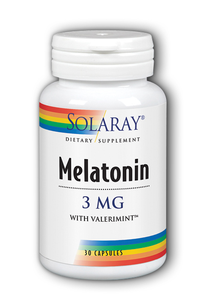 Solaray: Melatonin-3 With Valerimint 30 Cap 3mg