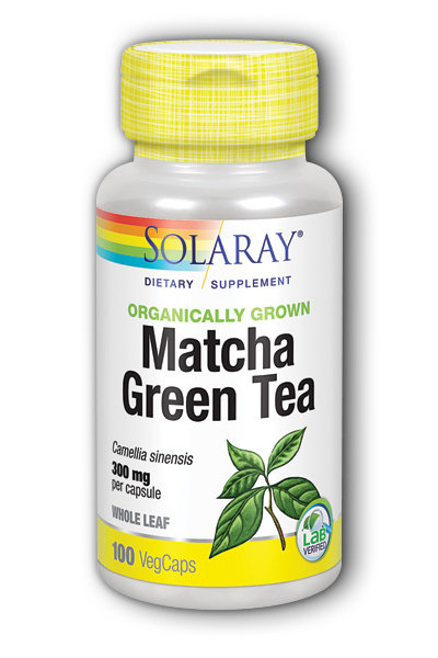 Solaray: Organically Grown Matcha Green Tea Leaf 100 ct Vcp