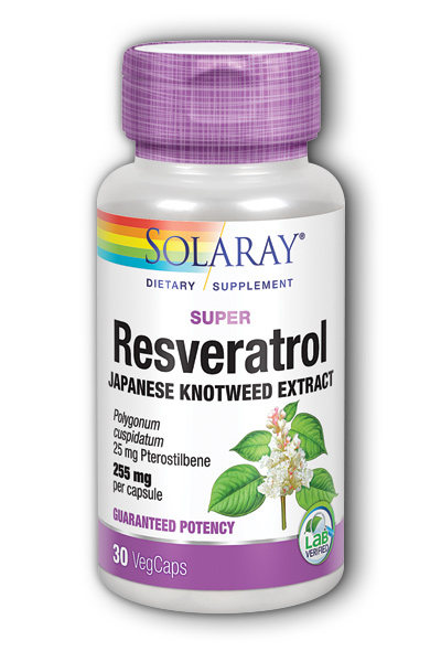 Solaray: Super Resveratrol with Pterostilbene 30 ct  Cap