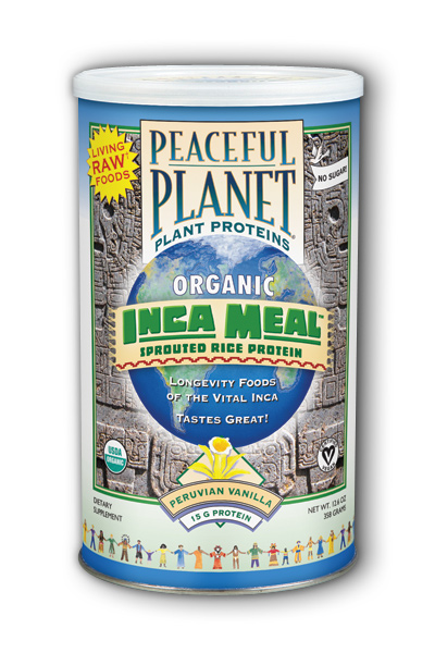 VegLife: Inca Meal Sprouted Rice Protein Organic Peruvian Vanilla 12.6 oz