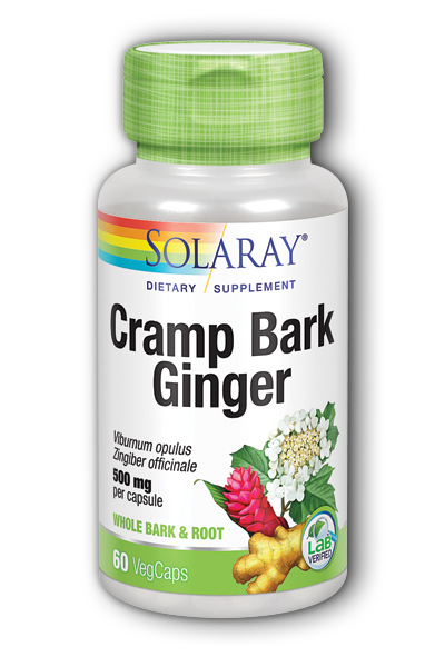 Solaray: Cramp Bark & Ginger 60 ct Vcp