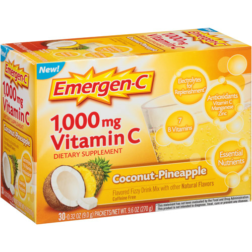 ALACER: Emergen-C Coconut Pineapple 30 ct
