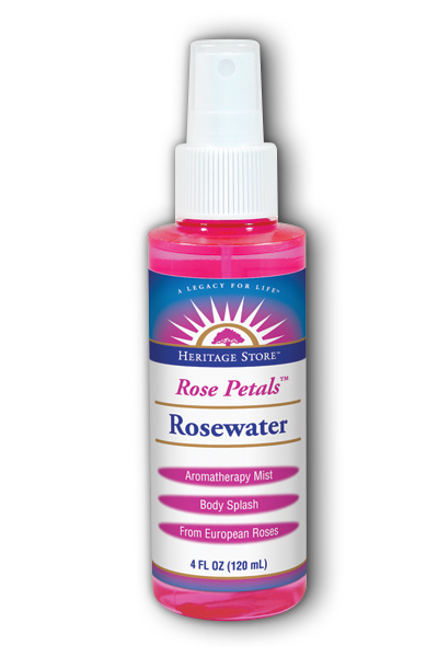 Heritage store: Flower Water Rose With Atomizer 4 fl oz