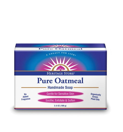 HERITAGE PRODUCTS: Pure Oatmeal Bar Soap 3 bars
