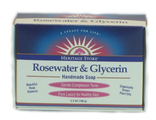 Heritage Store: Rosewater and Glycerin Soap 3.5 oz
