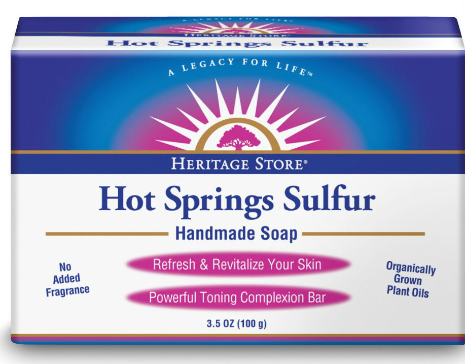 HERITAGE PRODUCTS: Hot Springs Sulfur Bar Soap 3 bars
