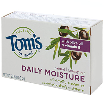 TOM'S OF MAINE: Beauty Bar Soaps-Daily Moisture Bar Trial 0.9 oz