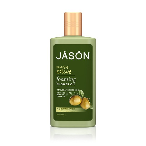 JASON NATURAL PRODUCTS: Renewing Olive Foaming Shower Oil 10 oz