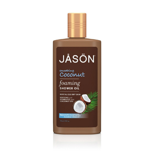JASON NATURAL PRODUCTS: Smoothing Coconut Foaming Shower Oil 10 oz