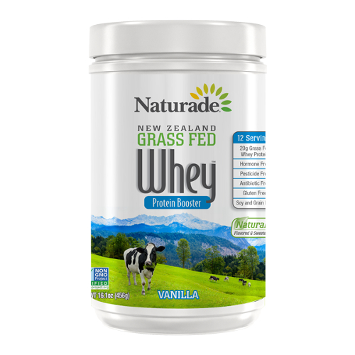 NATURADE: New Zealand Grass Fed Whey Protein Vanilla 12 Serving Canister 16.08 oz