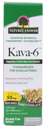 NATURE'S ANSWER: Kava 6 AF Extract 1 oz