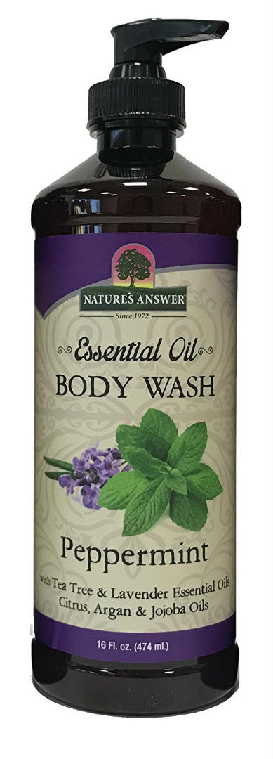 NATURE'S ANSWER: Essential Oil Body Wash Peppermint 16 oz