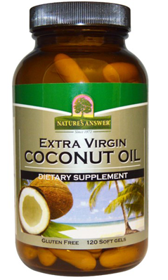 NATURE'S ANSWER: ORGaNiC VIRGIN COCONUT OIL 120SG