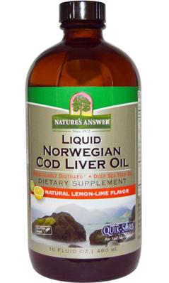 NATURE'S ANSWER: Liquid Norwegian Cod Liver Oil 16 oz