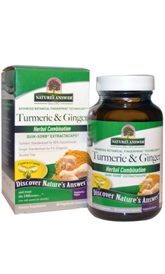NATURE'S ANSWER: Tumeric and Ginger 90 cap