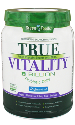 GREEN FOODS CORPORATION: True Vitality Plant Protein Shake with DHA-Unflavored 22.7 oz