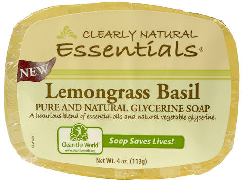 CLEARLY NATURAL: Glycerine Bar Soap Lemongrass Basil 4 oz