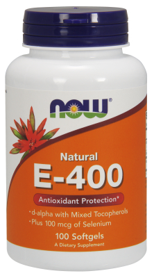 NOW: E-400 20% MIXED Plus SELENIUM  100 SGELS 1