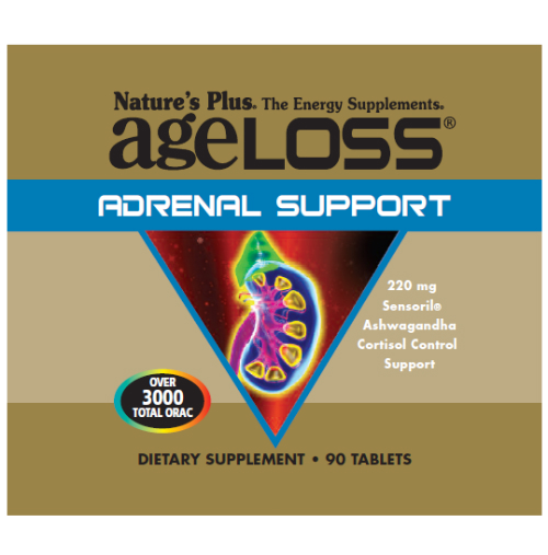 Natures Plus: AGELOSS ADRENAL SUPPORT TAB 90