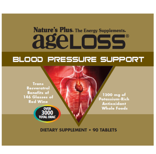 Natures Plus: AGELOSS BLOOD PRESSURE TABS 90