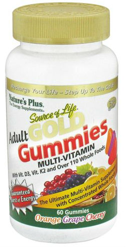 Natures Plus: Source Of Life Gold Adult Gummy 60 ct Assorted Flavor