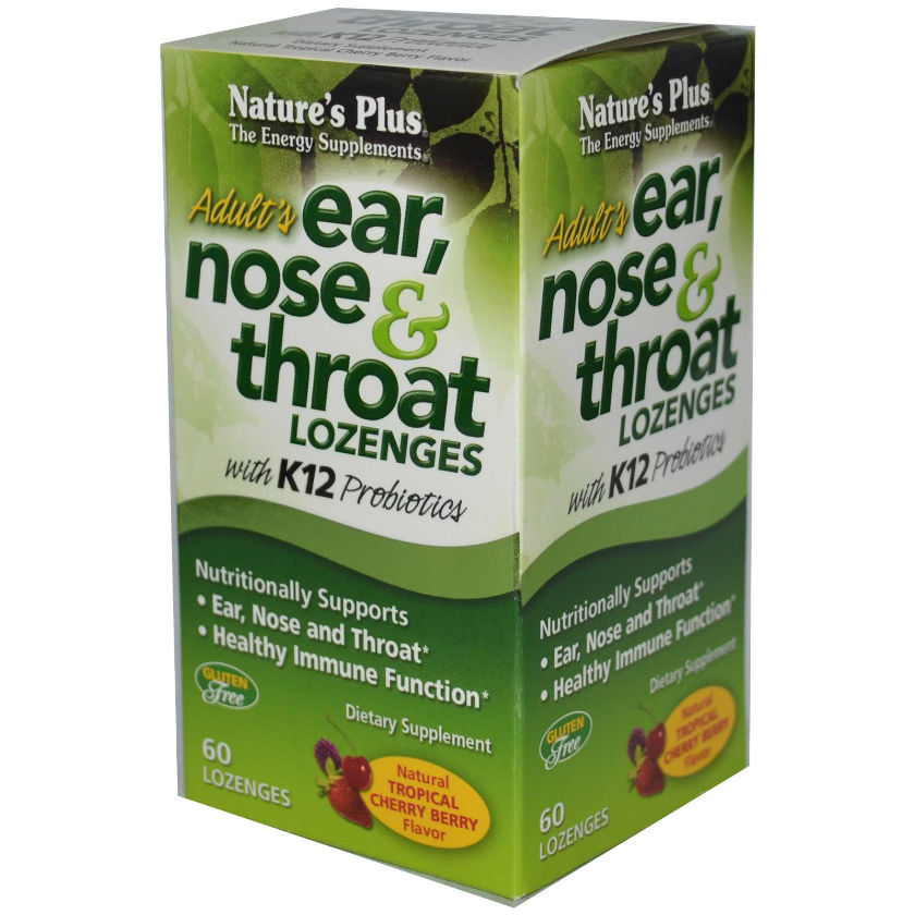Natures Plus: ADULT'S EAR NOSE and THROAT LOZENGES 60