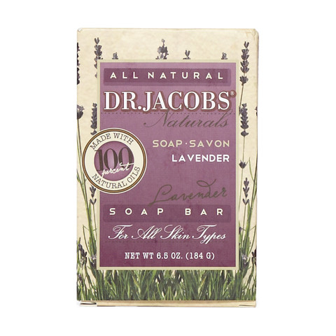 DR JACOBS NATURALS: Lavender Castile Bar Soap 6.5 oz