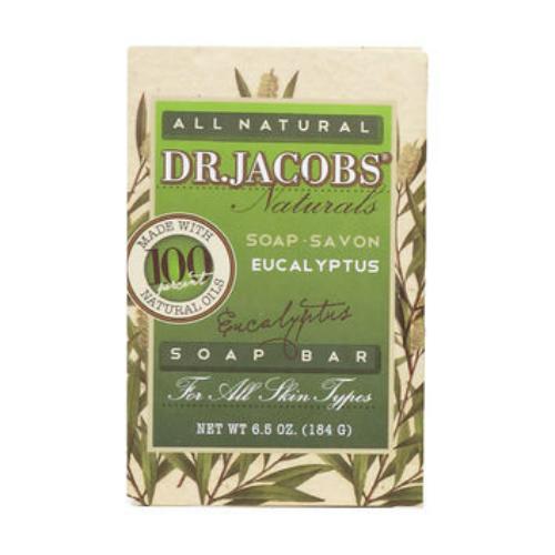 DR JACOBS NATURALS: Eucalyptus Castile Bar Soap 6.5 oz