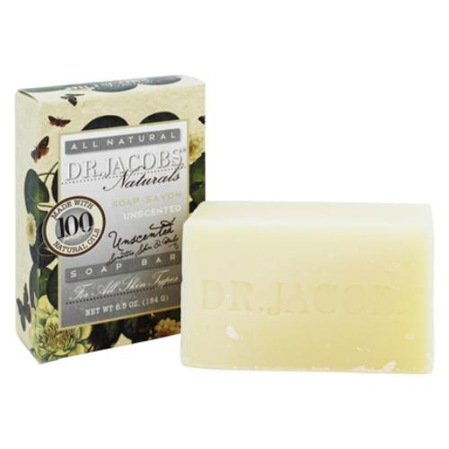 DR JACOBS NATURALS: Unscented Castile Bar Soap 6.5 oz