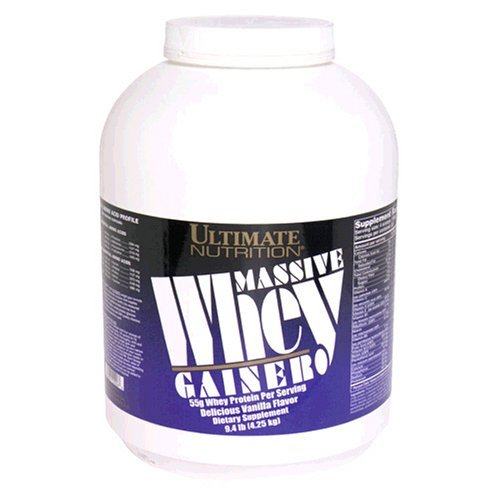 Ultimate Nutrition: Whey Gainer Massive Case Vanilla 4 jug