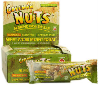 CAVEMAN FOODS: NUT BAR ALMOND CASHEW 15/BX